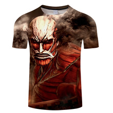 New Fashion Men Women  Anime Tee Tops Funny T Shirts 3D Print Attack On Titans T-Shirt Short Sleeve Round neck  hip hop tshirt