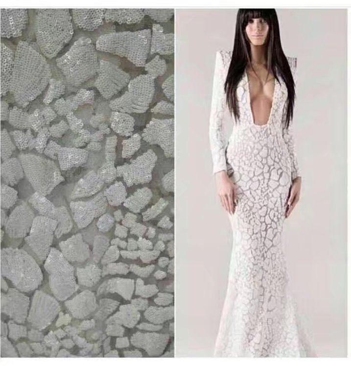 High quality african tulle lace fabric embroidery sequins lace fabric wholesale guipure lace for womenHigh quality african tulle lace fabric embroidery sequins lace fabric wholesale guipure lace for women