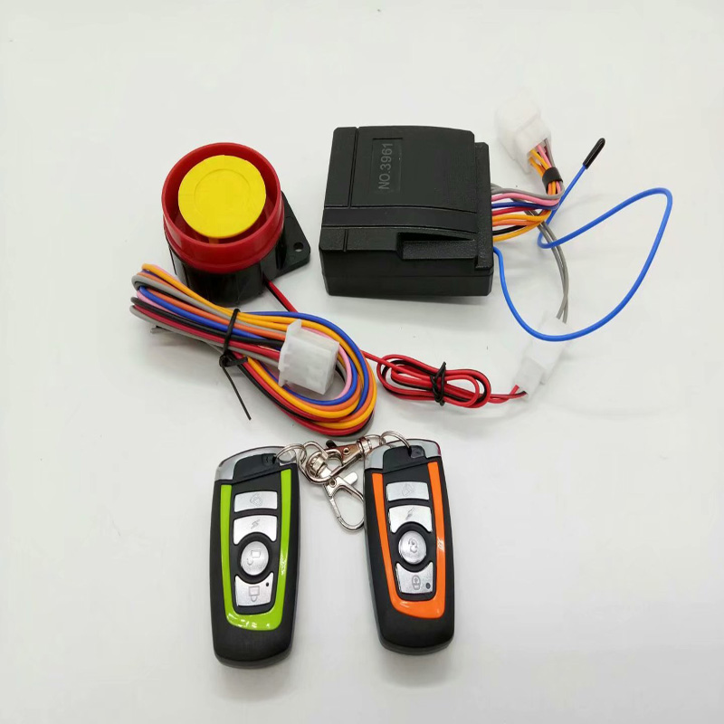 Universal Scooter Anti-theft Security Alarm System Motorcycle Alarm System Two-way With Engine Start Remote Keychain