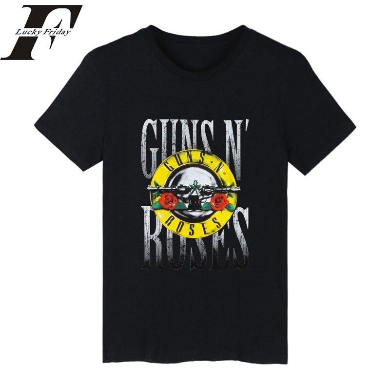GUNS N ROSES Punk Summer Cotton T shirt Men women T Shirt Rock Band clothing Hip