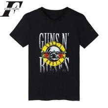GUNS N ROSES Punk Summer Cotton T-shirt Men women T Shirt Rock Band clothing Hip Hop 4XL Tee Shirts LUCKYFRIDAYF