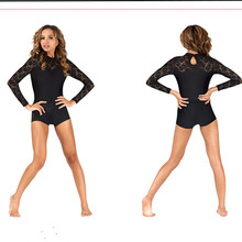 New Women's Unitard Yoga Sets One piece Dance & Shorts Lace Sleeves Lycra Full Bodysuit Physical Training Clothes Gym Catsuit