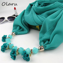 US $5.89 |Olaru Bohemia Fashion Muslim Scarf Neckalce Beads Flower Long Pendant Women Tassel Necklaces New Statement Jewelry Bijoux Hot-in Choker Necklaces from Jewelry & Accessories on Aliexpress.com | Alibaba Group