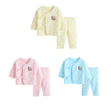 цена на MrY High Quality Newborn Baby 0-6M Clothing Set Brand Baby Boy/Girl Clothes 100% Cotton Cartoon Thicken Underwear