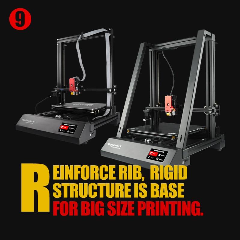 2019 Mais Novo Máquina Duplicador Wanhao Impressora FDM 3D 9 D9 3 DPrinter MK2 Com Auto Nivelamento Diferentes Construir/Impressão tamanho D9/300/400