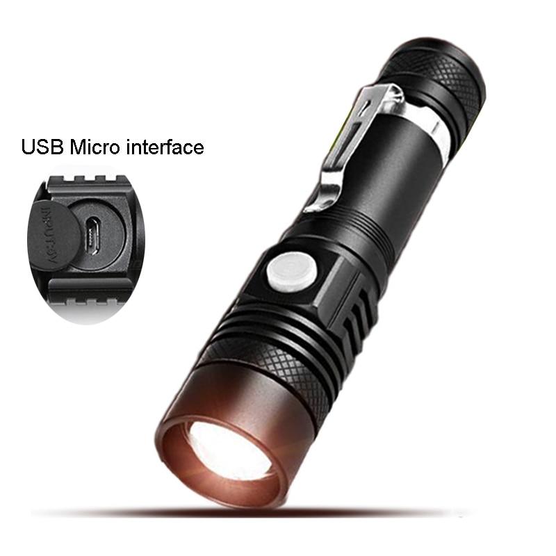 2017 New LED Flashlight USB micro Direct Charge Highlight CREE T6 Lamp Bead zoomable Tactical Flashlight for outdoor lighting чехлы для телефонов skinbox lg g4c skinbox shield 4people