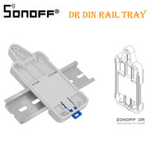 2 PCS SONOFF For Basic/RF/ Pow/ TH10/16/ Wifi Smart Switch DR DIN Tray Rail Case Holder Mounted Adjustable Box Cover Home Alexa(China)