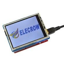 "Elecrow 2.8 นิ้ว TFT Touch Shield V4.3 สำหรับ Arduino Mega 240x320 โมดูล LCD 2.8 ""TFT จอแสดงผล SD Card DIY ชุด"