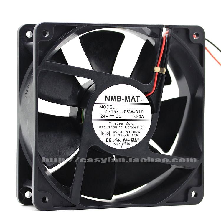 NMB-MAT 4715KL-05W-B10 P00 DC 24V 0.20A 120x120x38mm Server Square fan sw 05w