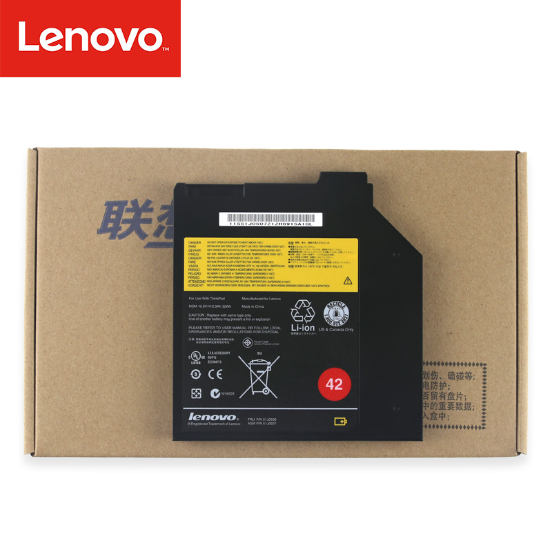 Original Laptop Battery For Lenovo ThinkPad Genuine DVD Ultrabay  51J0508 51J0507 T400 T400S T410S T420S T430S T60 T60P T61 T61P