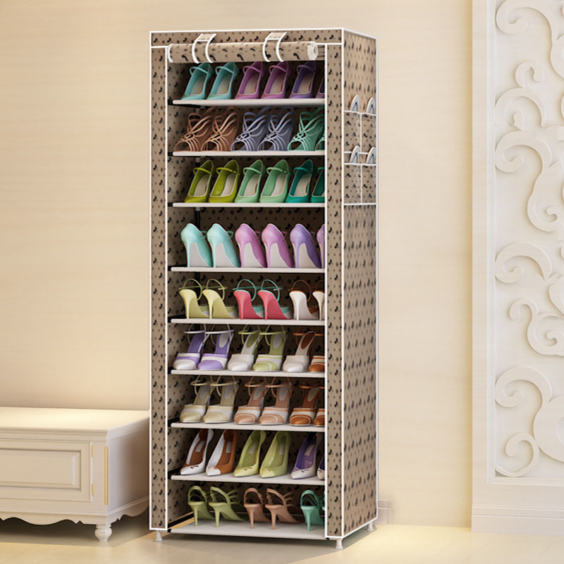 Image 2 - Actionclub Ten Layers Shoes Rack Strong Durable Oxford Cloth Fabric Shoe Organizer Rack Modern DIY Shoes Storage Shelf-in Shoe Cabinets from Furniture
