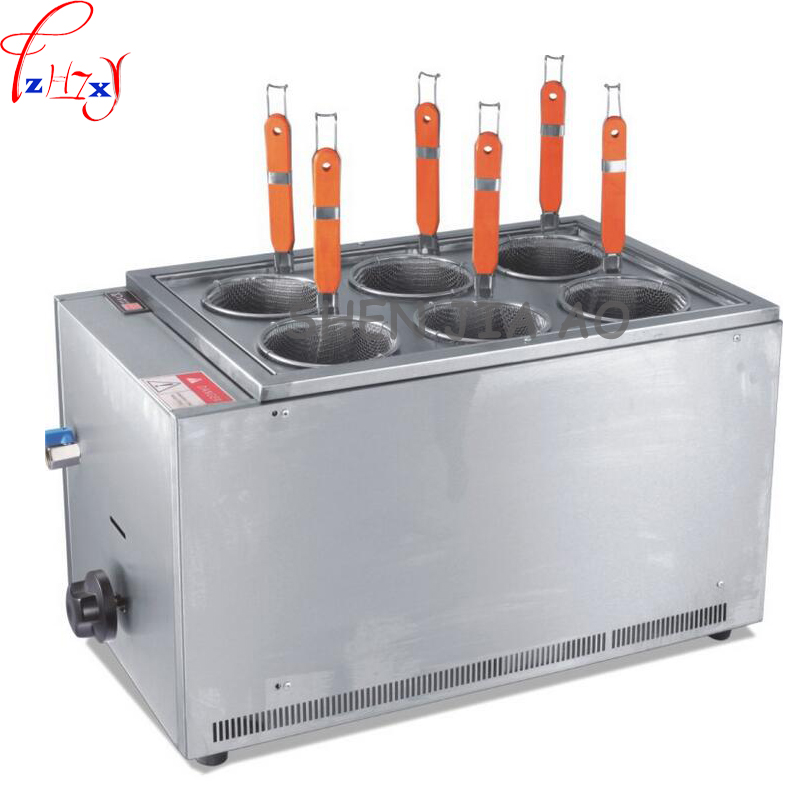 1pc Commercial Gas Stainless Steel Bench Top 6 Cooking Cooker Pasta Cookware Noodle Cooking Machine Mala Tang Chang 1pc fy 4m b new and high quality electric pasta cooker noodles cooker cookware tools cooking noodles machine