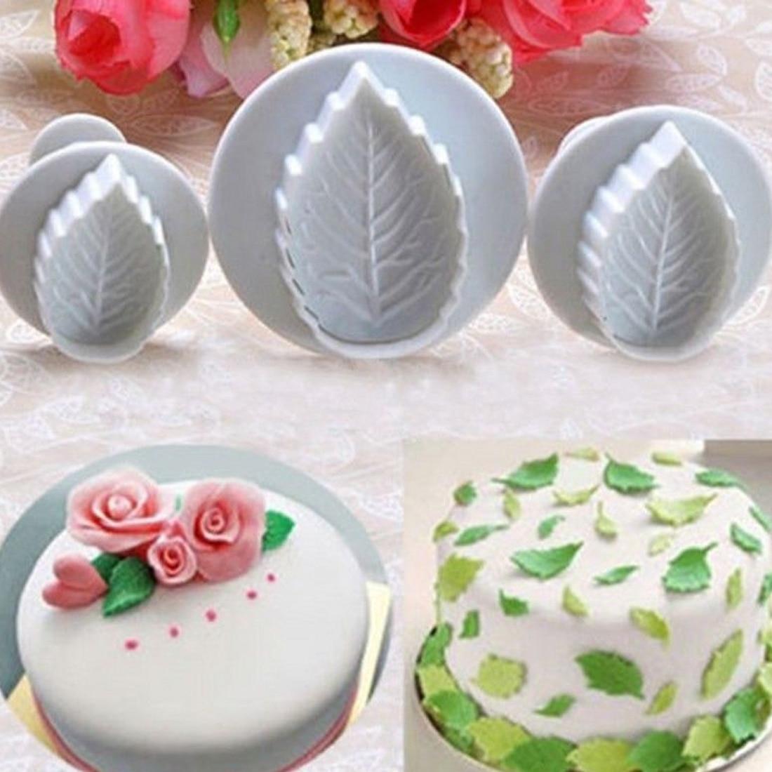 3 Pcs Cake Xmas Snowflake shape Plunger Fondant Decor Sugarcraft Mold Cutter*CC