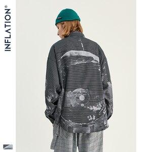 Image 3 - אינפלציה גברים סיני סגנון חולצות גברים ארוך שרוול Streetwear חולצות 2020 סתיו חדש רחב מימדים גברים מקרית חולצה 92137W