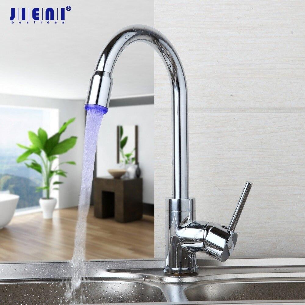 LED 360 Swivel Led Light Kitchen Faucet Hot & Cold Tap