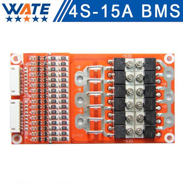 4S 15A 14.8 V placa de proteção da bateria lifepo4 BMS PCM bms pcm para lifepo4 bateria li-ion célula de bateria pack