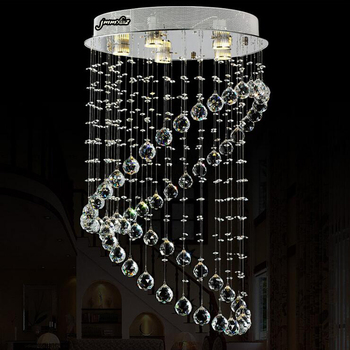 Moderna lámpara de cristal minimalista para sala de estar de Europa y Estados Unidos, lámpara de cristal redonda para restaurante, lámpara de cristal para hotel