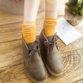 2016 Hot sale  women's girls autumn winter piles of socks 100% cotton stripe solid color vintage boots socks
