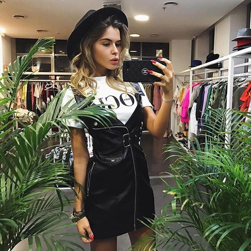 7a648e72a3 Jo Kalin 2018 Marca Estate Tops Abiti di Moda per Le Donne VOGUE Stampata  Lettera Harajuku Maglietta femminile Rosso Nero T Shirt Camisas in Jo Kalin  2018 ...