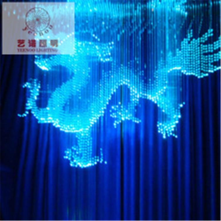 Luxury fiber optic curtain Colorful animal modeling Villa