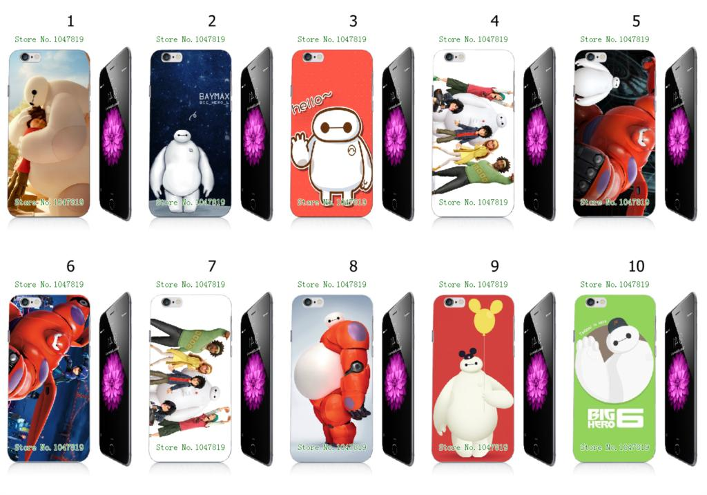 timeless design b0f66 ca3ef Mobile Phone Cases Wholesale 10pcs/lot Big Hero 6 Protective White ...