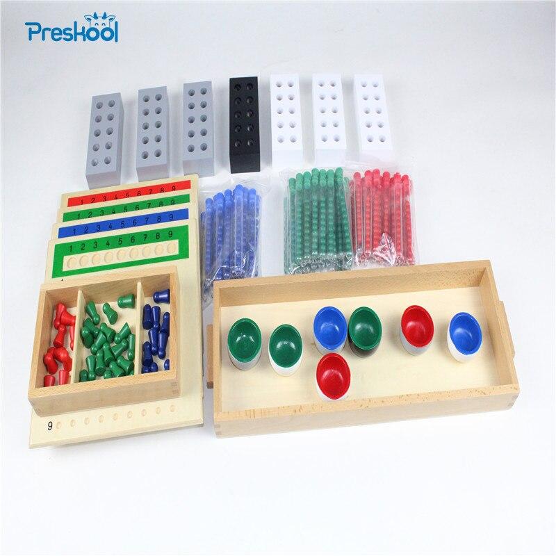 Montessori Enfants Jouet Bébé Bois Tubes Longue Division Groupe D'apprentissage Éducation Préscolaire Formation Brinquedos Juguets