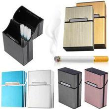 2019 Newest Hot Light Cigarette Cigar Case Pocket Container Aluminum Tobacco Storage Holder