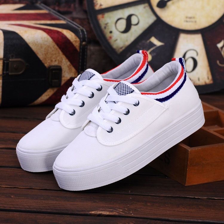 Spring New Leisure Muffin Thick-soled Canvas Shoes