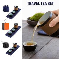 Travel Tea Set One Pot Two Cups Portable Kung Fu Tea Set Tea Water Separation Cup Ceramic Filter Teapot High Quality 2019 new