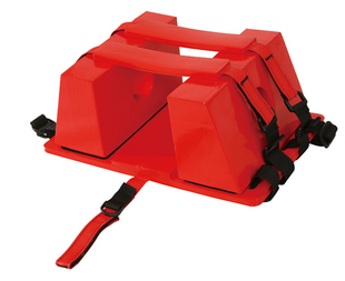 Fixateur de tête pour spatule type de plaque civière civière en plastique, masque de cou quatre-en-un pour piscine avec planche de sauvetage