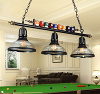 Vintage Industrial Wrought Iron Black Painted Chain Pendant Light with Edison Bulbs Billiard Decoration for Bar Cafe Restaurant