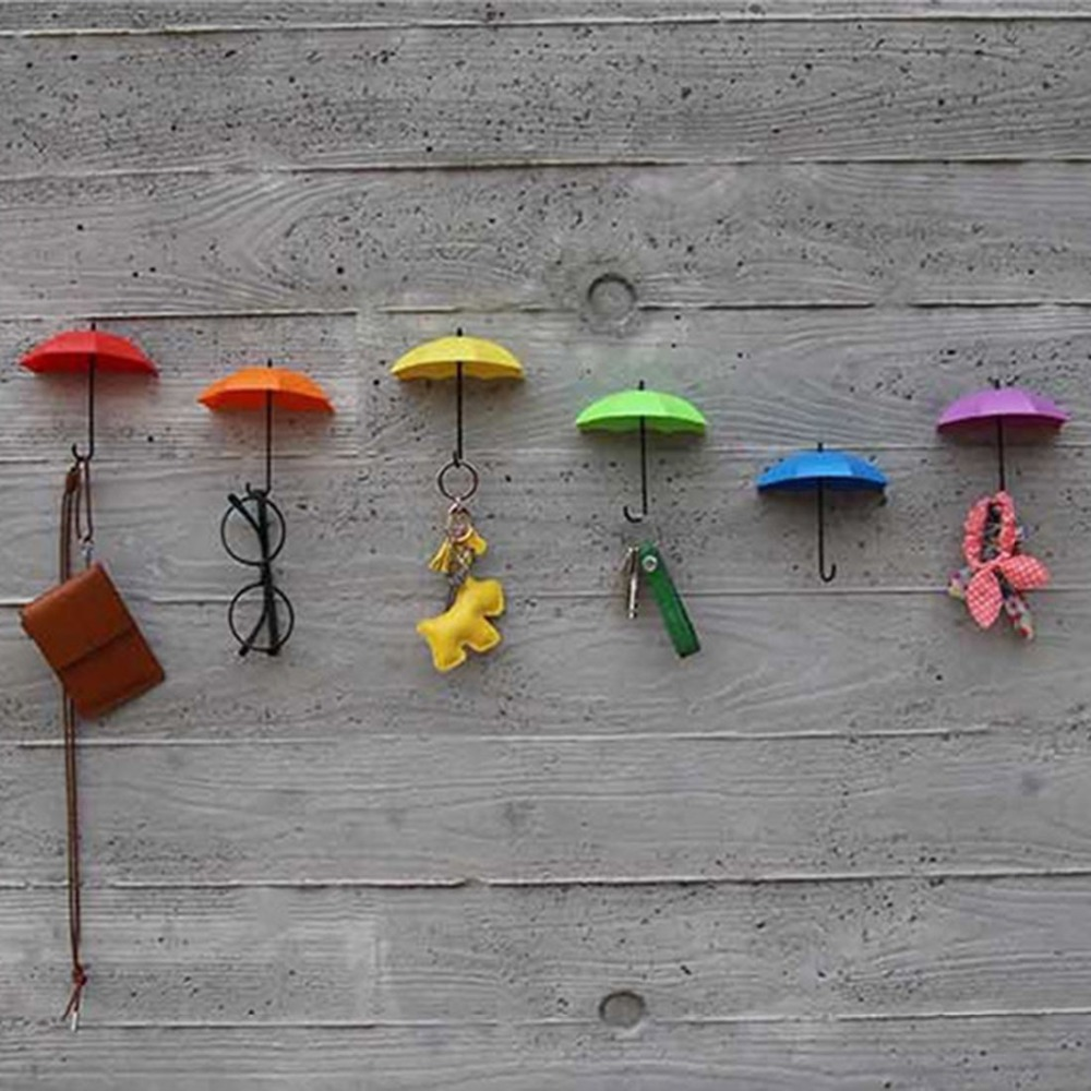 3pcs diy home decor decoration umbrella wall hook for children kids rooms sunglasses bag - Kids decorative wall hooks ...