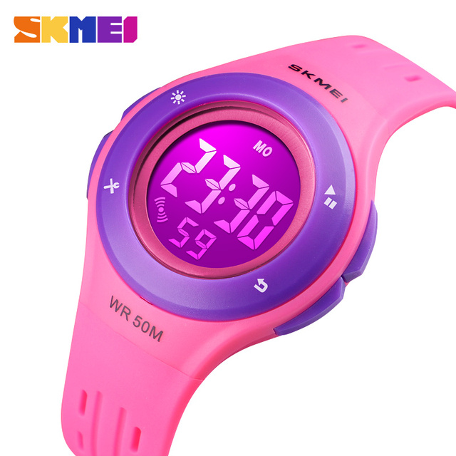 Girls Watches LED Digital Boys Sports Watches Plastic Kids Alarm Date Casual Chi
