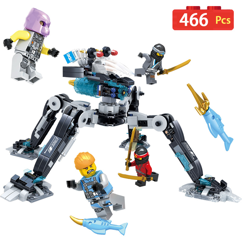 Ninjagoed Movie Water Mecha Model Building Blocks Compatible With LegoINGLYS Anime Action Figures Blocks Bricks Toy for Children 5pcs lots 2017 film extraordinary corps mecha five beast hand collection model toy