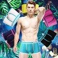 5 pçs/lote 2015 hot venda marca de moda Sexy roupa interior de algodão Boxers Underwear Boxer Shorts mens, Qualidade! De