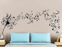 Creative design music dandelion wall stickers bedroom home room decoration detachable vinyl YY01