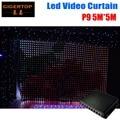 Огнеупорные световые шторы P9 5 м * 5 м  высокое качество  DJ фон  светодиодный видео занавес с одним шт режимом на линии контроллера шаг 9 см