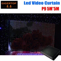 P9 5M*5M Fireproof Light Curtains High Quality DJ Backdrop Led Video Curtain with one piece PC Mode on line controller Pitch 9cm