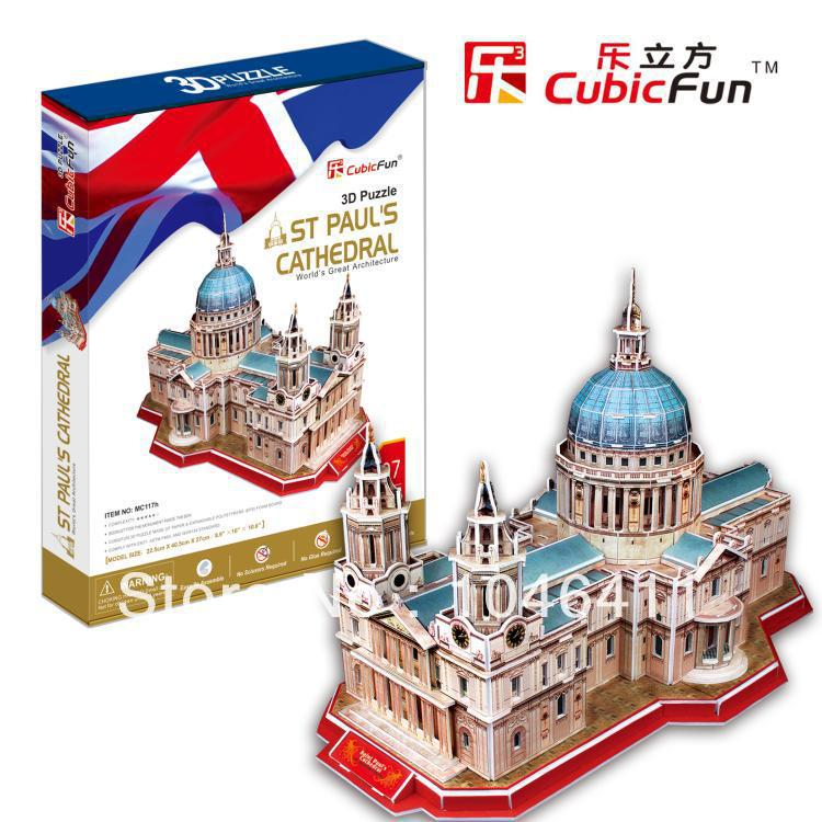 St.Paul's Cathedral CubicFun 3D educational puzzle Paper & EPS Model Papercraft Home Adornment for christmas birthday gift wat phra kaew cubicfun 3d educational puzzle paper