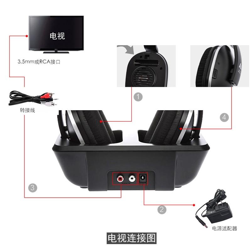 ARTISTE ADH300 Rechargeable Wireless Headphones For TV   HiFi Headset 4