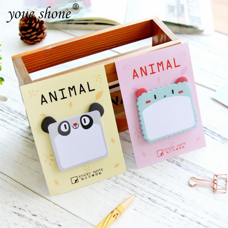 1PCS  Memo Pad Sticky Notes Cartoon Panda Animals N Times Stickers Students Stationery Office Supplies