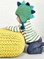 Ребенка Шляпу Динозавра Boy Cap Малышей Девушка Звериного Стиля Теплые Трикотажные Хлопок Hat новорожденных фотография Капот touca вводная часть рисунков