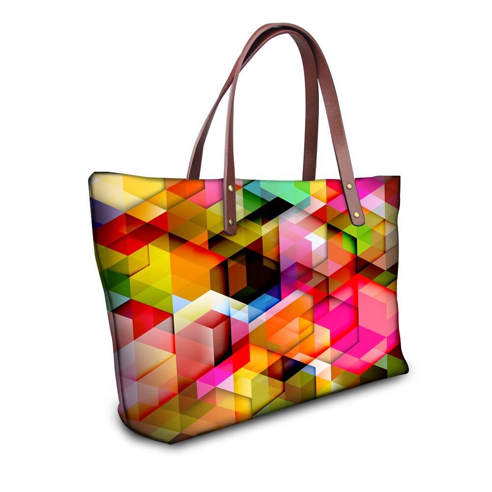 Famous Modern Women Top Handle Bags Supercolor Large Shopping Tote Girls Handbags Bolsas Femininas Womens Travel Casual Bags