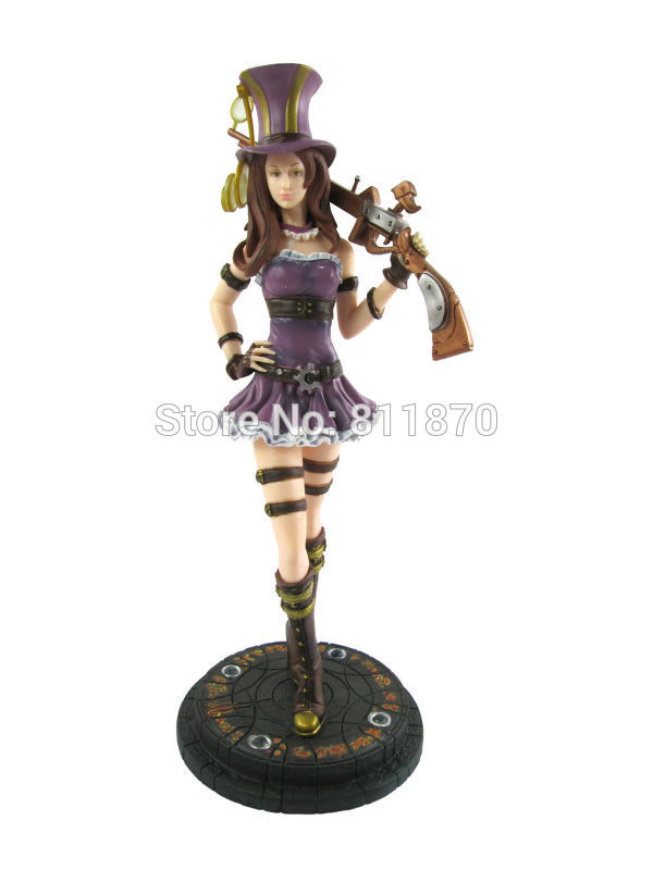 ФОТО Cosplay LOL The Sheriff Of Piltover Caitlyn 27cm/10.6'' Boxed GK Garage Kit Action Figures Toys Model