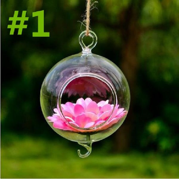 24 стиля стеклянная подвесная Ваза Бутылка Террариум гидропонный горшок Декор цветочные растения контейнер орнамент микро пейзаж DIY домашний декор - Цвет: 8x11cm