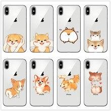 Cute Welsh Corgi Pembroke Shiba Inu Dog Soft Silicon Case Cover For iphone X XS Max XR 8 8Plus 7s 6 6S Plus 5 11 11PRO MAX SE