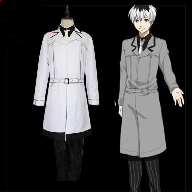 Tokyo Ghoul Ken Kaneki Cosplay Costume Anime Trench Cos Wig Fight Uniform Coat Christmas Party Halloween Costume For Men Adult