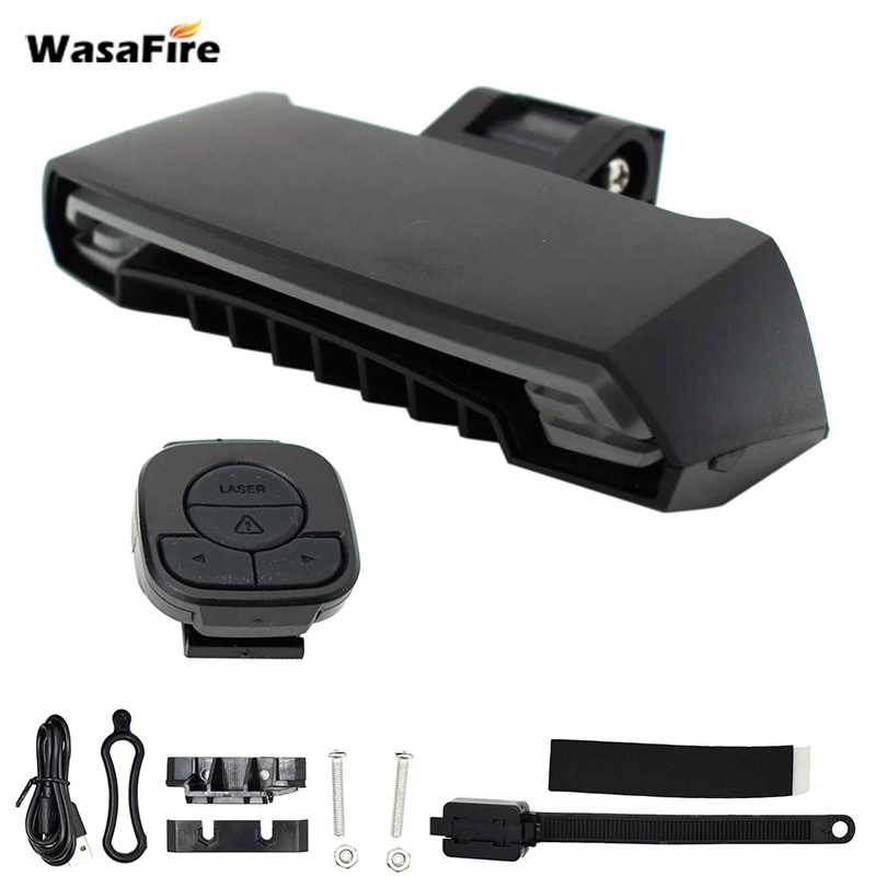 WasaFire X5 Wireless Bike Bicycle Rear Light laser tail lamp Smart USB Rechargeable Cycling Accessories Remote Turn led New Gift meilan x5 wireless bike bicycle rear light laser tail lamp smart usb rechargeable cycling accessories remote turn led