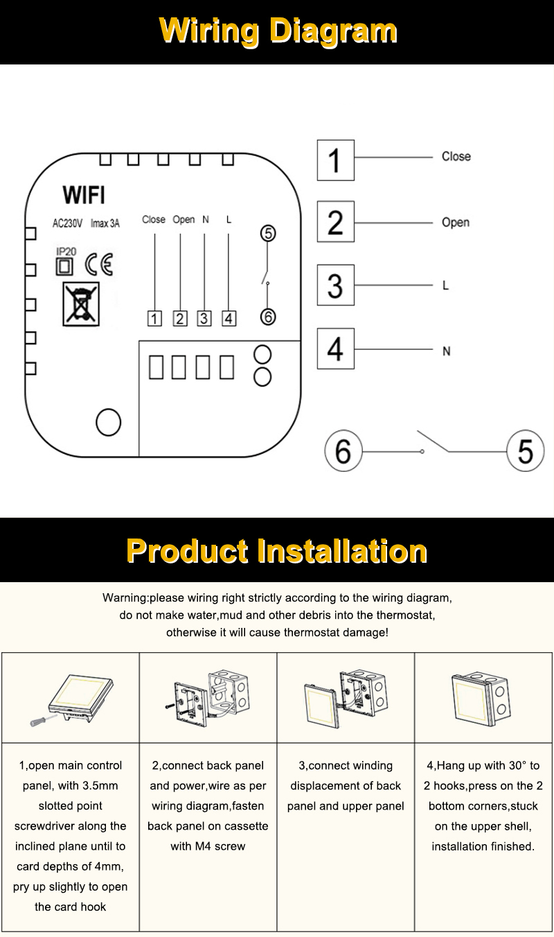 small resolution of 1x wifi gas wall heater thermostat m 6 m 7