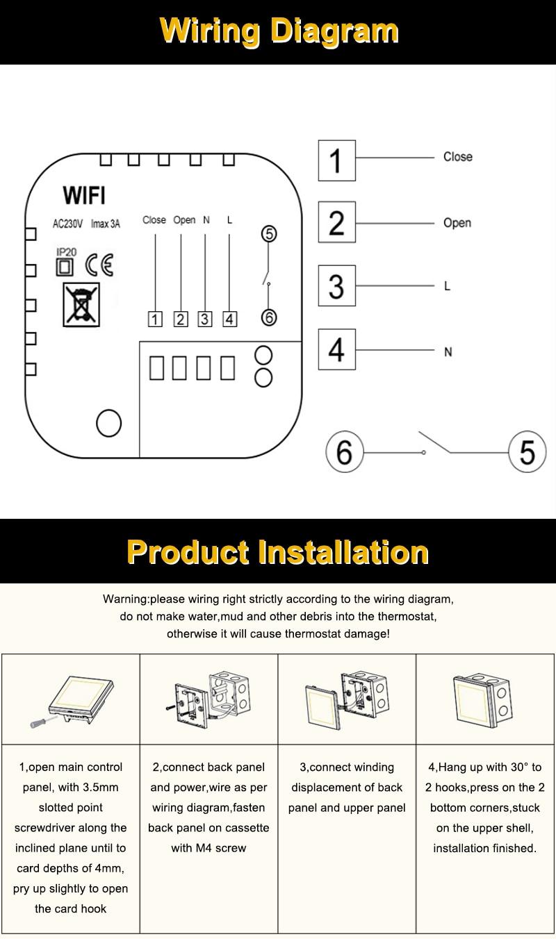 1x wifi gas wall heater thermostat m 6 m 7  [ 800 x 1352 Pixel ]